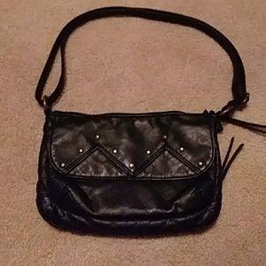 GAL black leather purse